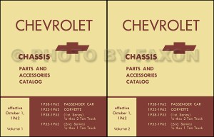 1957 1963 Chevy Chassis Parts Book Catalog Illustrated