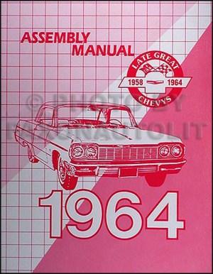 1964 Chevy Car Wiring Diagram Manual Reprint Impala, Bel