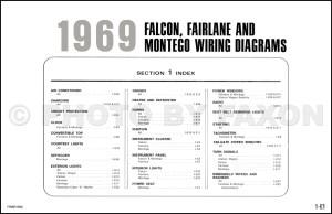 1969 Ford Wiring Diagram Original Falcon Fairlane Torino Ranchero Mercury Montego Cyclone Comet