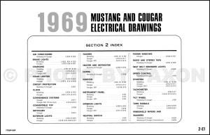 1969 Ford Mustang Mercury Cougar ORIGINAL Wiring Diagram Electrical Schematic 69   eBay
