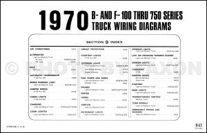 1970 Ford F100 F250 F350 Wiring Diagram Original Factory