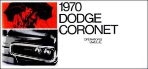 1970 Coro, Super Bee, & RT Wiring Diagram Manual Reprint