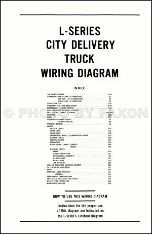 1970 Ford LSeries Truck Wiring Diagram L800 L900 L8000