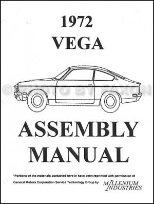 1972 Chevrolet Vega Factory Assembly Manual Chevy | eBay