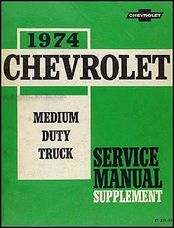 1974 early 1975 Chevy GMC Medium Duty Conventional Wiring