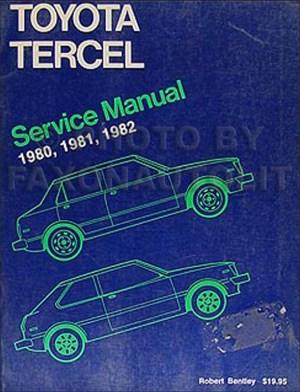 19801982 Toyota Corolla Tercel Engine Repair Shop Manual Original 98386 1AC