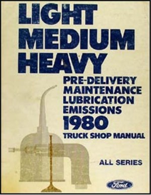 1980 Ford Truck (COWL) Wiring Diagram Original F600 F700