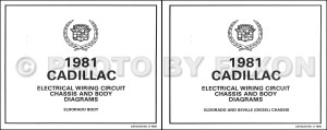 1981 Cadillac Eldorado Diesel Wiring Diagram Color Set OEM