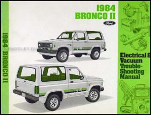 1984 Ford Bronco II only Electrical Troubleshooting Manual