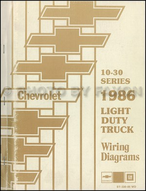 1986 Chevy CK Wiring Diagram Pickup Truck Suburban Blazer