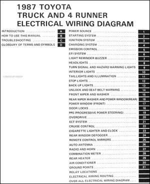 1987 Toyota Truck & 4Runner Wiring Diagram Manual Original Images  Frompo