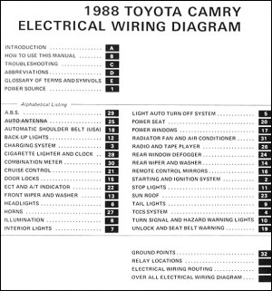 19885 Toyota Camry 6 Cylinder Wiring Diagram Manual Original