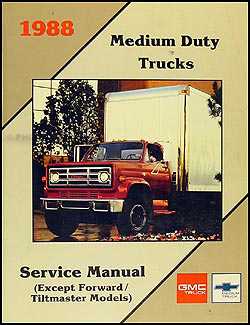 1988 Chevrolet and GMC Medium Duty C50 C60 C70 Wiring Diagram Original C5000 C6000 C7000