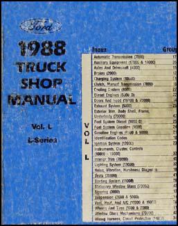 1988 Ford LSeries Wiring Diagram L8000 L9000 LT8000