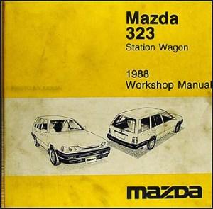 1988 Mazda 323 Wagon Original Shop Repair Manual 88 | eBay