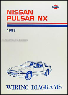 1988 Nissan Pulsar NX Wiring Diagram Manual Original