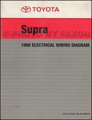 1988 Toyota Supra Wiring Diagram Manual Factory Reprint