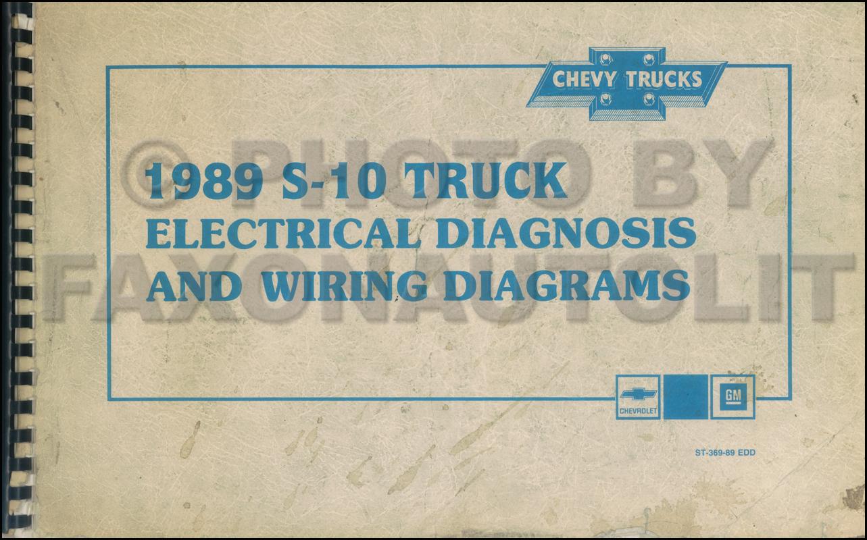 1989 Chevy S-10 Pickup & Blazer Wiring Diagram Manual Original