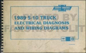 1989 Chevy S10 Pickup & Blazer Wiring Diagram Manual Original