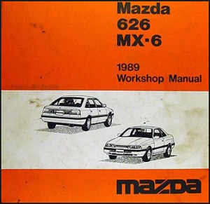 1989 Mazda 626 & MX6 Repair Shop Manual Original
