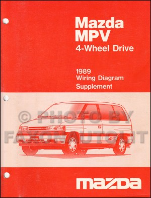 1989 Mazda MPV Wiring Diagram Manual Original
