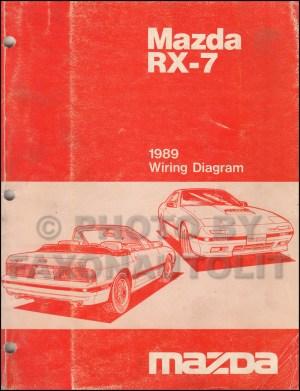 1989 Mazda RX7 Wiring Diagram Manual Original RX7