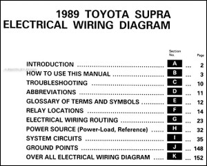 1989 Toyota Supra Wiring Diagram Manual Original