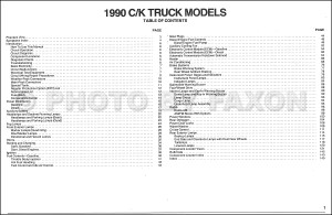 1990 Chevy CK Pickup Wiring Diagram Manual Original