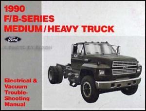 1990 Ford Truck (CAB) Foldout Wiring Diagram F600 F700