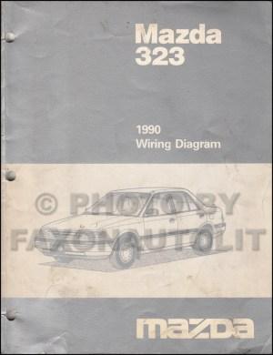1990 Mazda 323 and Protege Wiring Diagram Manual Original 2WD