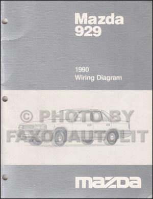 1990 Mazda 929 Wiring Diagram Manual Original