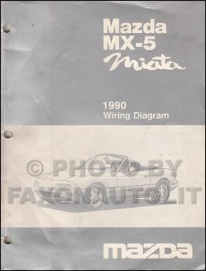 1990 Mazda MX5 Miata Wiring Diagram Manual Original