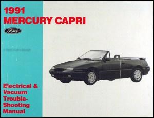 1991 Mercury Capri Factory Foldout Wiring Diagram Original