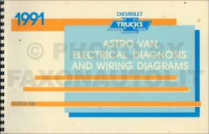1991 Chevy Astro Van Wiring Diagram Manual Original
