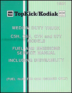 1991 GMC Chevy Topkick Kodiak Caterpiller 3116 Diesel Repair Shop Manual Supp