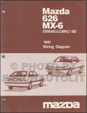 early 1991 Mazda 626 MX6 Wiring Diagram Manual Original