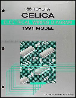 1991 Toyota Celica Wiring Diagram Manual Original