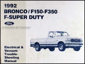 1992 Ford Bronco F150F350Super Duty Factory Foldout