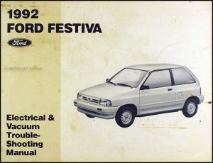 1992 Ford Festiva Factory Foldout Wiring Diagram Original