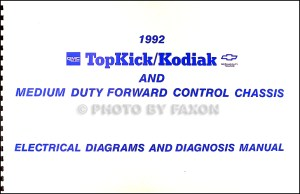 1992 Chevy Kodiak, GMC Topkick and P6 Wiring Diagram