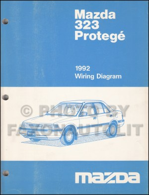1992 Mazda 323 and Protege Wiring Diagram Manual Original