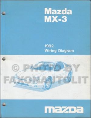 1992 Mazda MX3 Wiring Diagram Manual Original