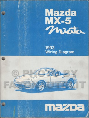 1992 Mazda MX5 Miata Repair Shop Manual Original