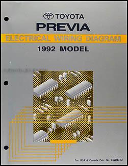 1992 Toyota Previa Wiring Diagram Manual Original