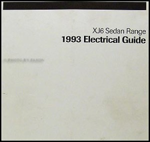 1993 Jaguar XJ6 Electrical Guide Wiring Diagram Original