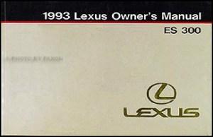 1993 Lexus ES 300 SC 300400 LS 400 Features Manual Original