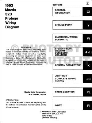 Service manual [1993 Mazda 323 Fuse Box Manual]  I Need A Fuse Box Diagram For A 1988 Mazda 323