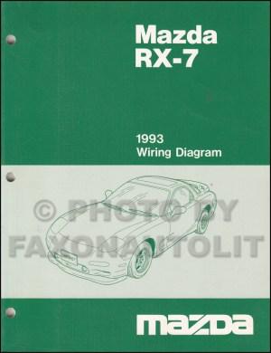 1993 Mazda RX7 Wiring Diagram Manual Original RX7