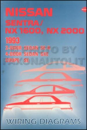 1993 Nissan Sentra and NX Wiring Diagram Manual Original