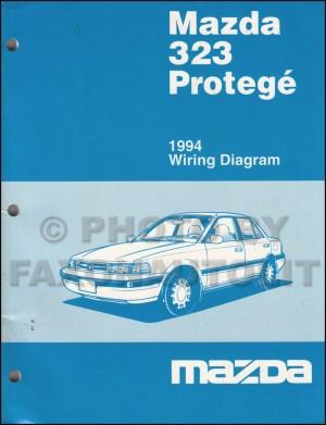 1994 Mazda 323 and Protege Wiring Diagram Manual Original